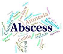 Abscess Illness Means Poor Health And Abcesses - stock illustration