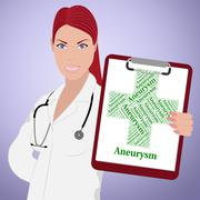 Aneurysm Word Means Artery Wall And Ailment Stock Illustration
