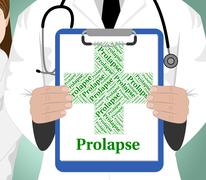Prolapse Word Indicates Ill Health And Affliction Stock Illustration