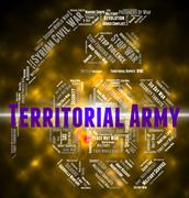 Territorial Army Indicates Military Action And Volunteer - stock illustration