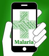 Malaria Disease Indicates Disorders Malady And Infirmity - stock illustration