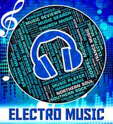 Electro Music Shows Sound Tracks And Harmonies - stock illustration