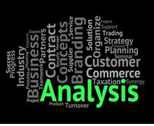 Analysis Word Means Investigates Analyse And Wordcloud - stock illustration