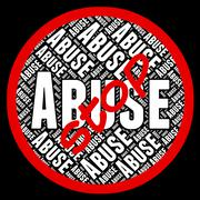 Stop Abuse Represents Warning Sign And Abused - stock illustration