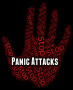 Stop Panic Shows Warning Sign And Attack Stock Illustration