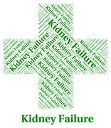 Stock Illustration of Kidney Failure Shows Lack Of Success And Affliction