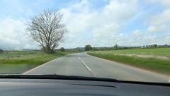 Driving in the Somerset countryside. Somerset, England. - stock footage