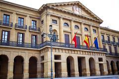 Stock Photo of Pamplona Navarra government palace building