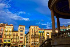 Pamplona Navarra Spain plaza del Castillo square Stock Photos