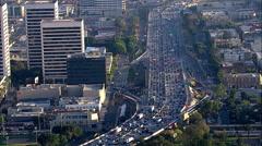 405 Freeway Traffic Stock Footage
