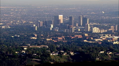 Los Angeles Century City Aerials Stock Footage