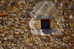 Stock Photo of Way of Saint James stone masonry walls Burgos