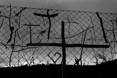 Stock Photo of Stick pilgrims cross symbols The Way of Saint James