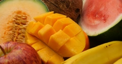 Fruit natural sweet healthly food group Stock Footage