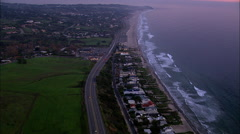 Stock Video Footage of Malibu Pacific Coast Highway Aerial