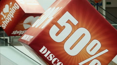 Big sale sign on the cube Stock Footage