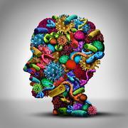 Disease Thinking - stock illustration
