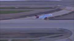 Virgin America Airline Take off LAX Stock Footage