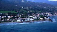 Malibu Beach Front Houses Aerial Stock Footage