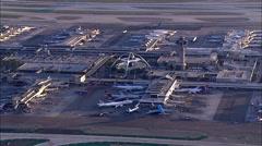 LAX Airport, Los Angeles International Aerial 3 Stock Footage