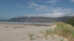 Vast Sandy Beach on the Oregon Coast Stock Footage