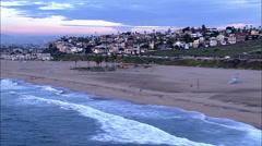 Playa Del Rey Aerial Shot Stock Footage