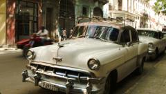 Busy street in old Havana Stock Footage