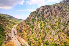 Highway In Pyrenees Mountains - stock photo