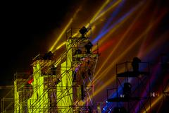 Lighting Laser Rig Stock Photos