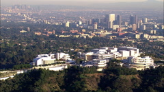 Getty Museum aerial shot Stock Footage