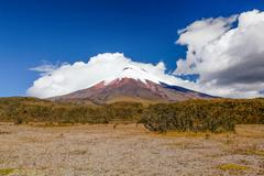 Cotopaxi Volcano In Clouds - stock photo
