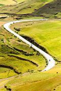 Stock Photo of High Altitude Road In Ecuador