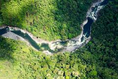 Pastaza River In The Andes Aerial Shot Kuvituskuvat