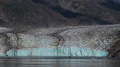 Sawyer Glacier Panning Shot Alaska 2015 Stock Footage