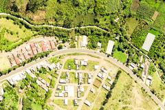 Campus In Tungurahua Province Ecuador Aerial Shot - stock photo