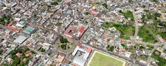 Banos De Agua Santa Aerial Panorama Stock Photos