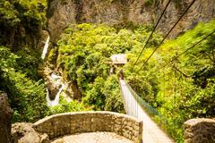 Stock Photo of Pailon Del Diablo Waterfall Long Exposure