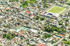 Banos De Agua Santa City Center Aerial Shot - stock photo