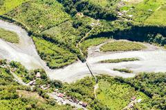 Rio Negro Tungurahua Aerial Shot - stock photo