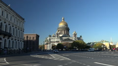 St. Isaac's Cathedral in St. Petersburg - stock footage