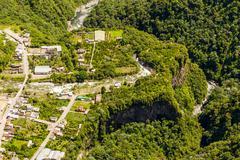 Stock Photo of Rio Verde Tungurahua Aerial Shot