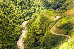 Pastaza River And Panamericana Highway Ecuador Stock Photos
