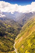 Rio Blanco Valley Aerial Shot - stock photo