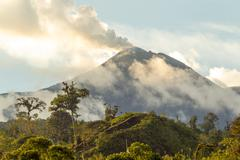 Stock Photo of Reventador Volcano Activity
