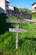 Villambistia in Saint James Way by Castilla - stock photo