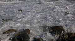 Sea with big waves after the typhoon. Japanese Sea. Stock Footage