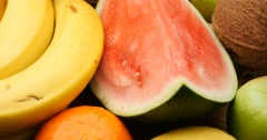 Fruit natural sweet healthly food group - stock footage