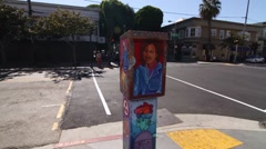 San Francisco Street Art Stock Footage