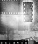 Film negative frames, black and white - stock photo