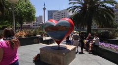 San Francisco Heart Art Stock Footage